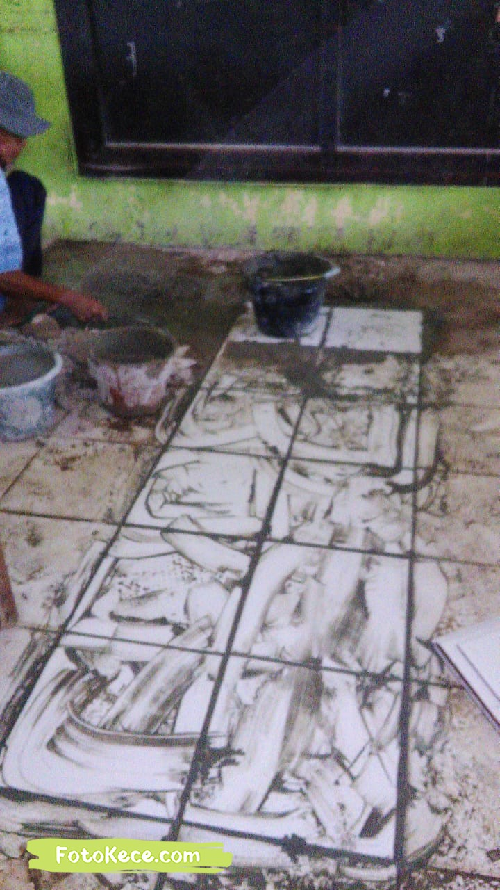 keramik proses perbaikan sarana fasilitas bmn foto kece 2019 127