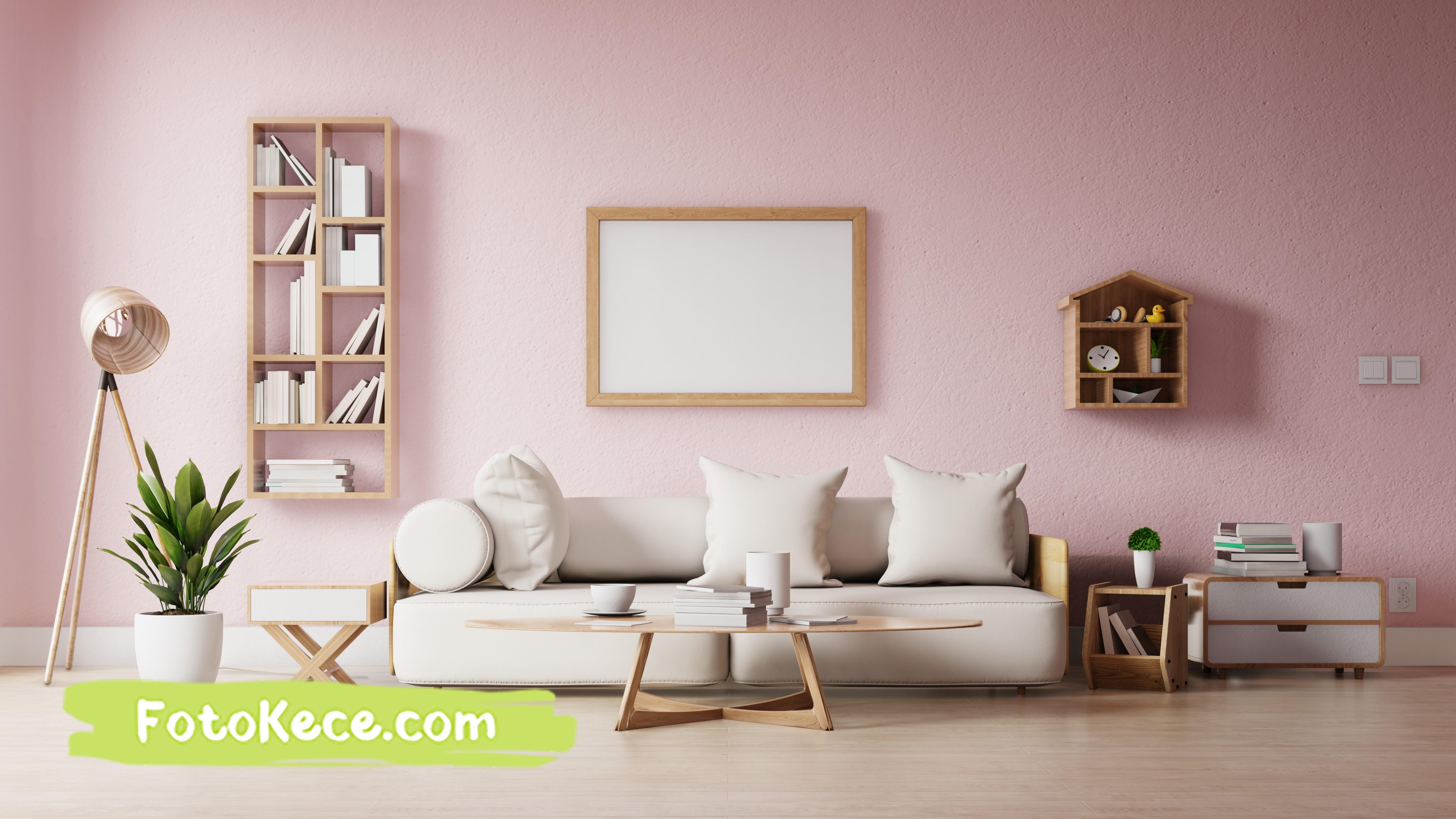 ruang modern ruang dengan poster dinding kosong foto kece