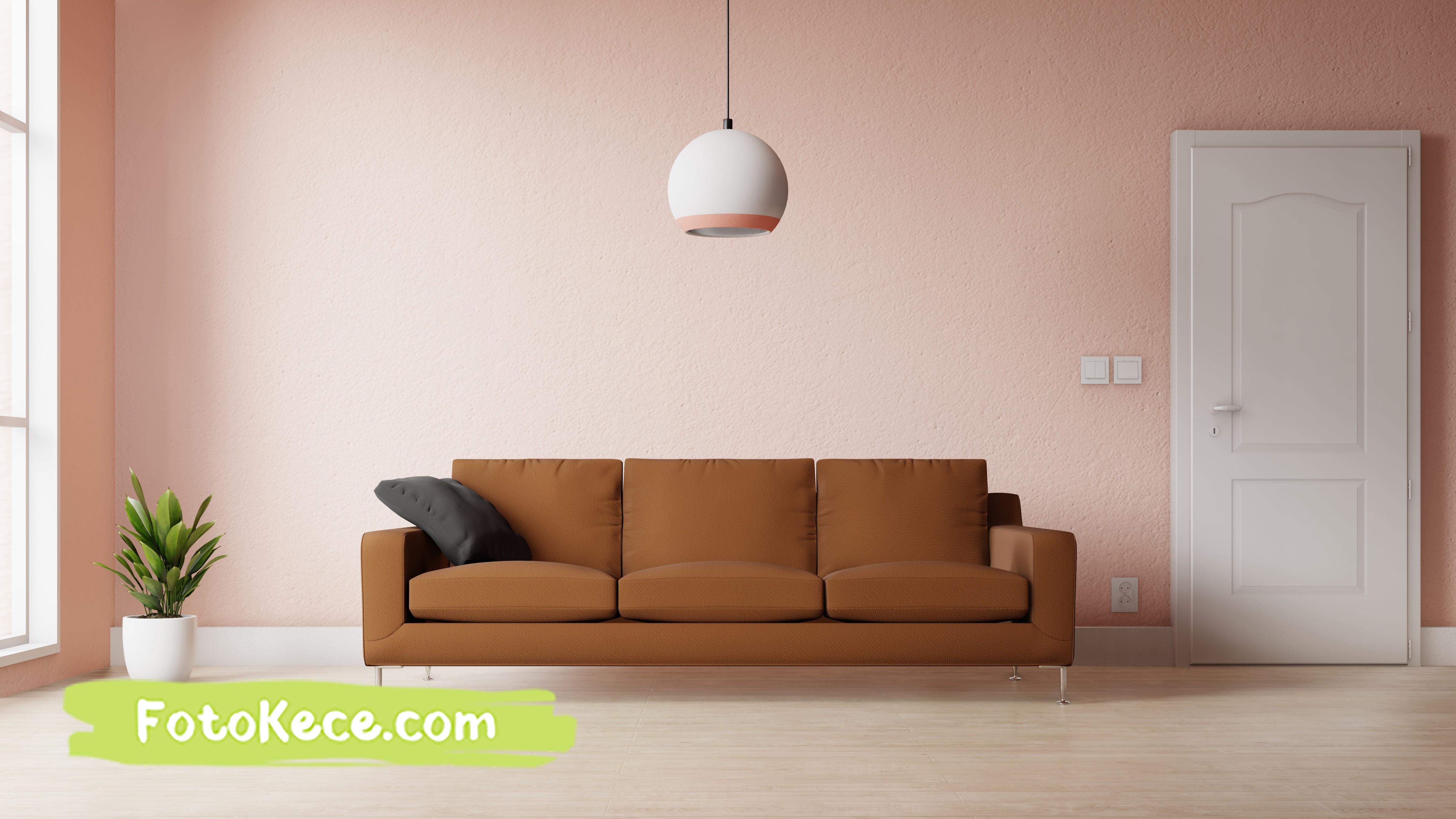 ruang tamu modern dengan dekorasi warna warni foto kece 1