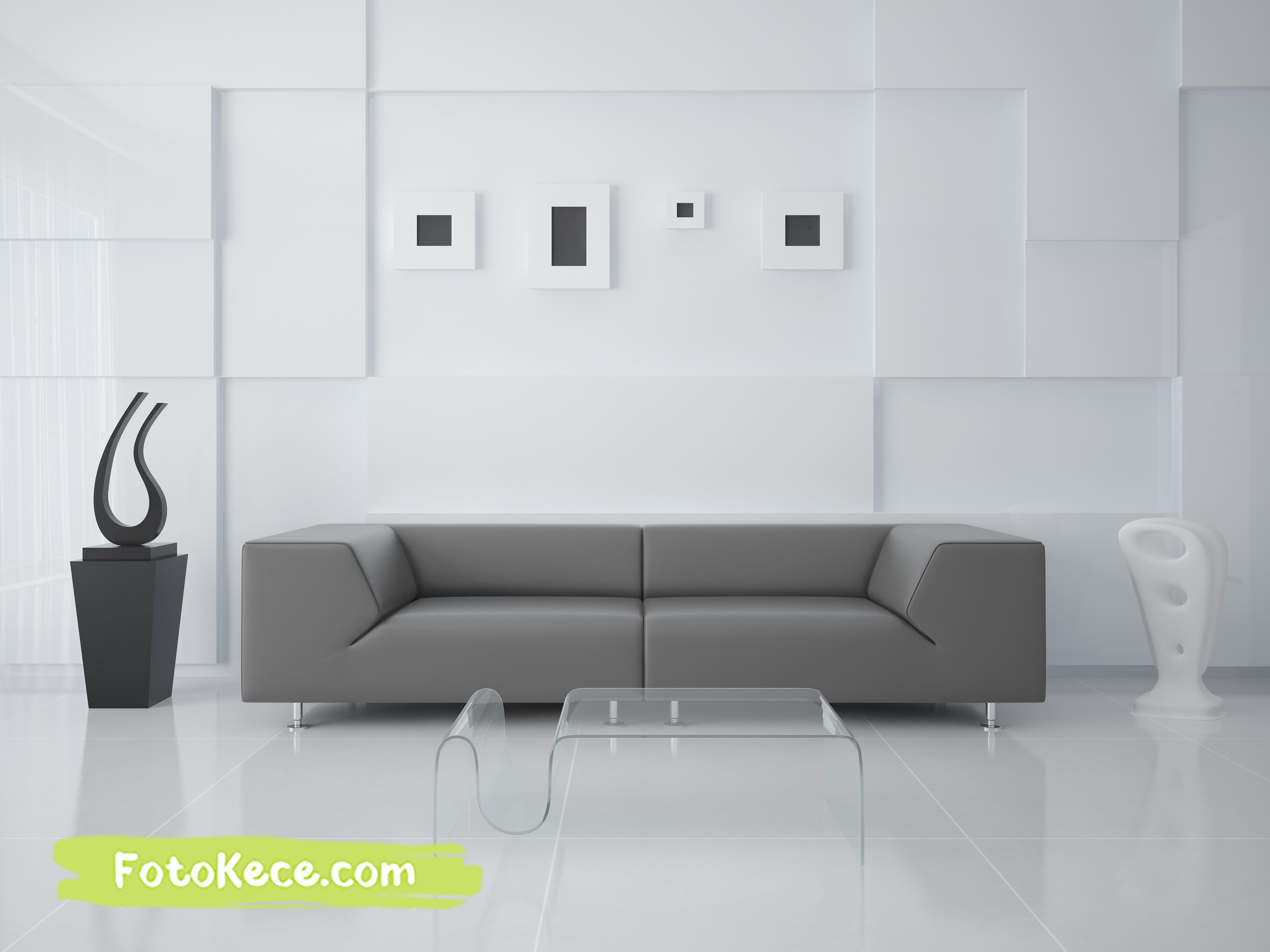 ruang tamu modern dengan model hitech foto kece