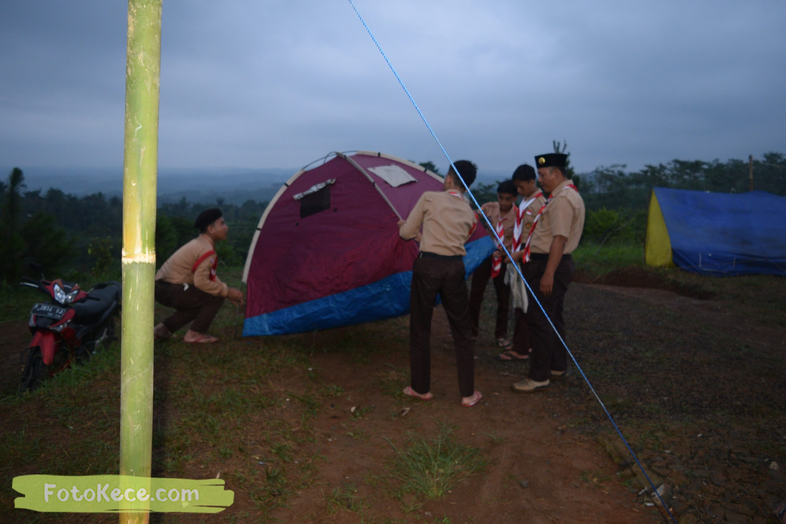 kegiatan sore malam perkemahan narakarya 1 mtsn 2 sukabumi 24 25 januari 2020 pramuka hebat puncak buluh foto kece 29 scaled