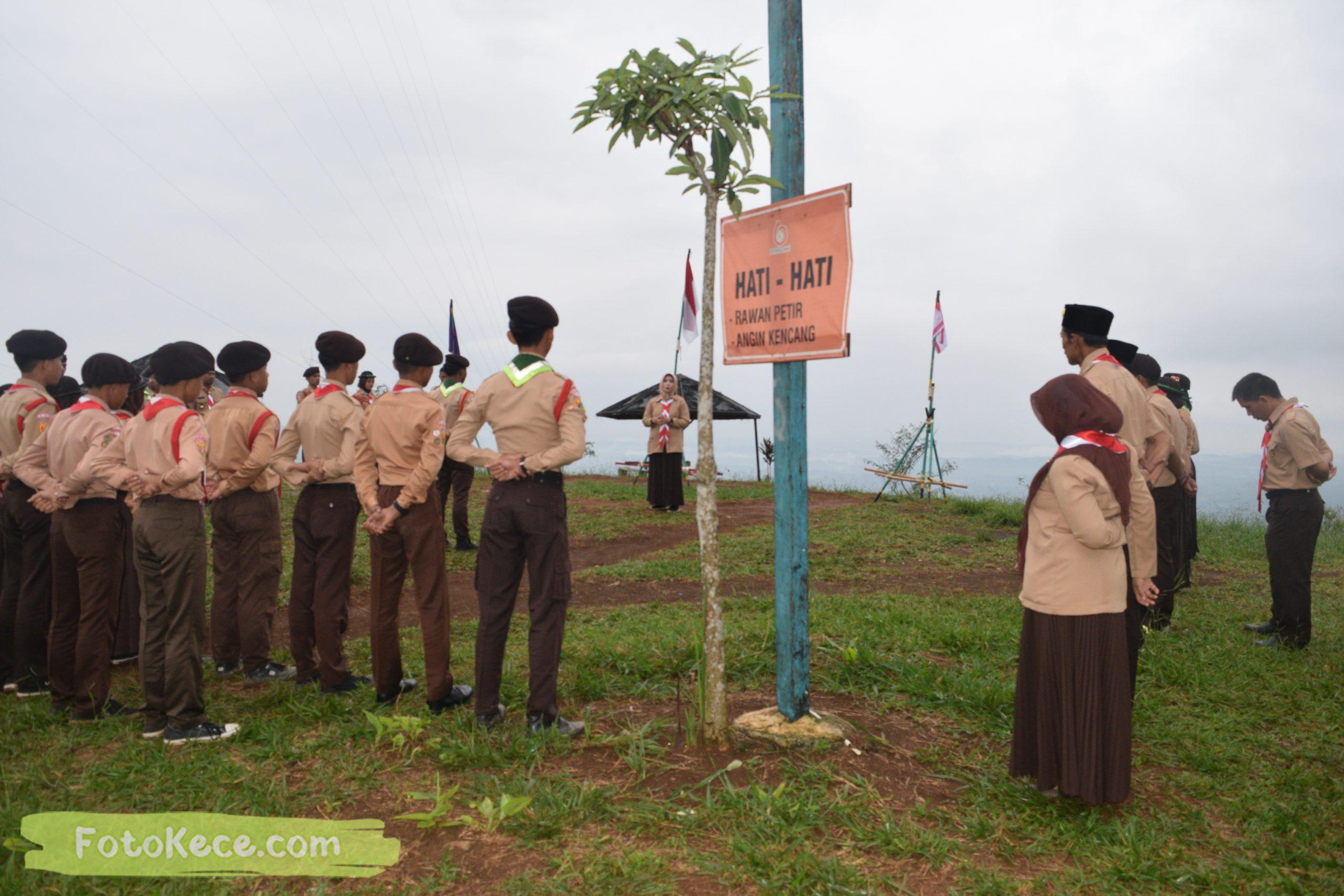 pembukaan perkemahan narakarya 1 mtsn 2 sukabumi 24 25 januari 2020 pramuka hebat wisata alam puncak buluh jampangkulon 21 scaled