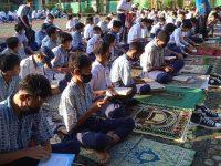Di lapangan Setelah Dhuha lanjut Pembiasaan membaca Asmaul Husna pada MTsN 2 Sukabumi (8)